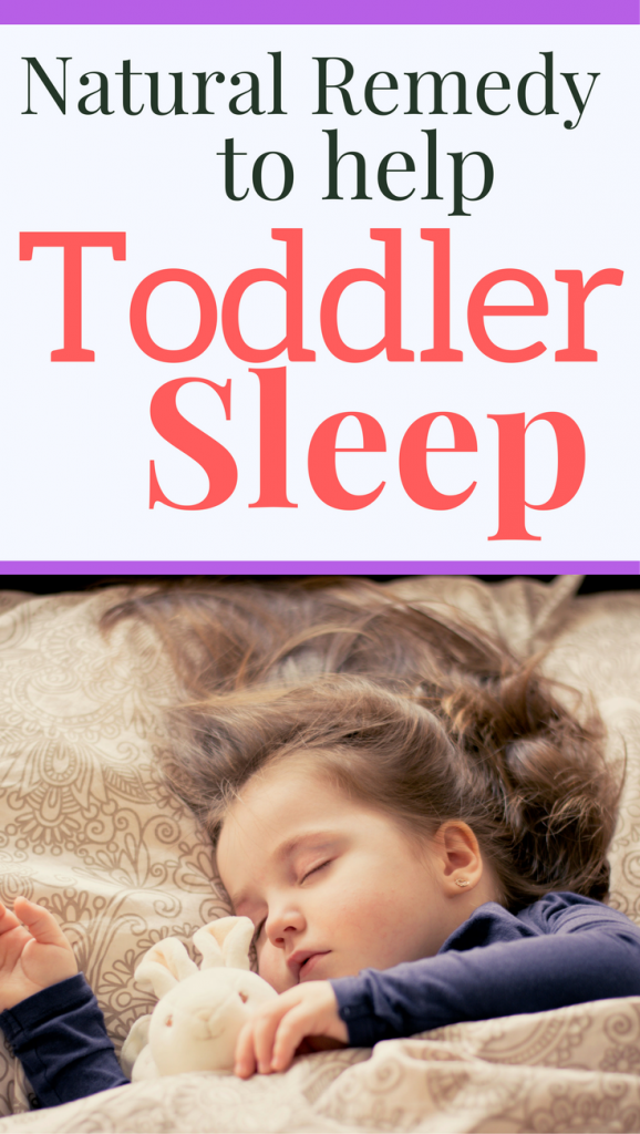Help your toddler sleep at night with this natural remedy. It will help calm your toddler down for bedtime.