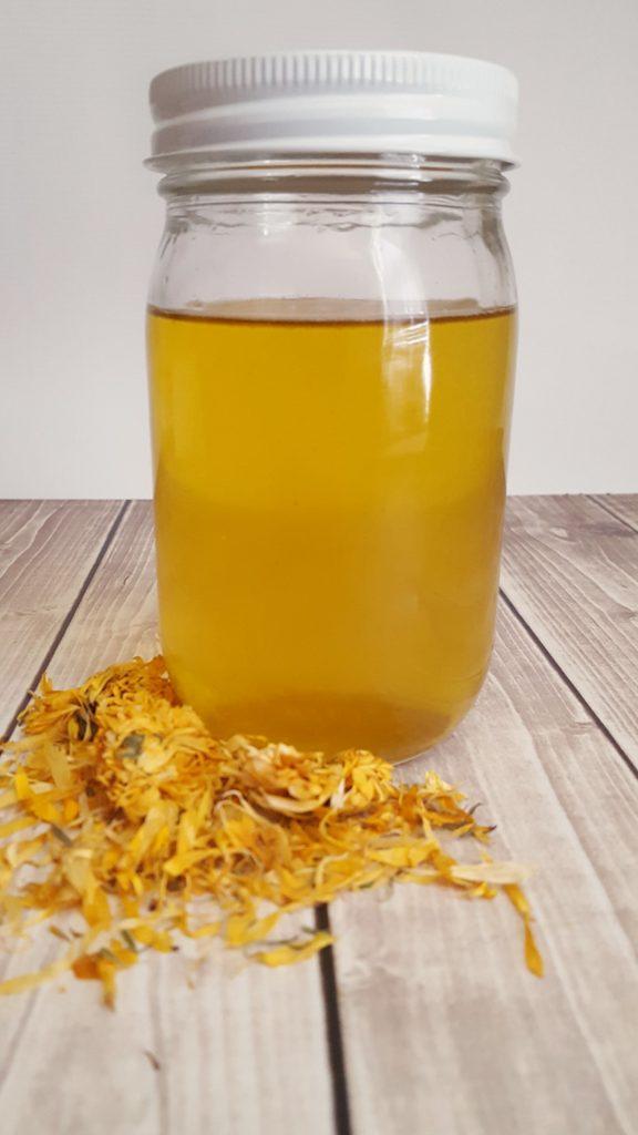 Calendula infused herbal oil