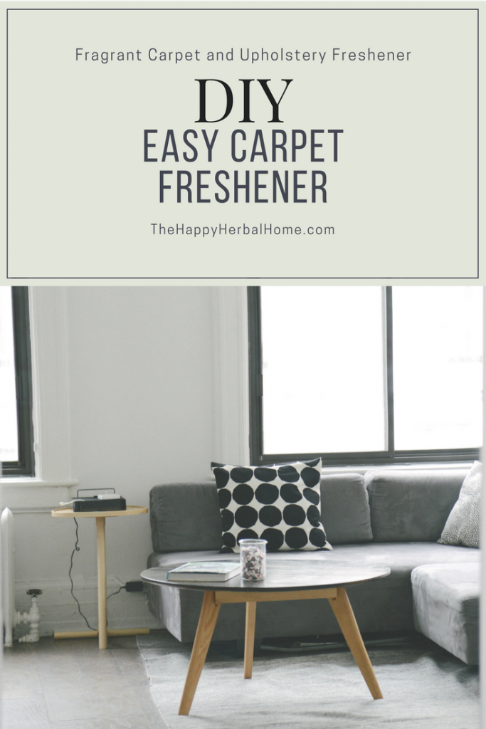 DIY Carpet Freshener - Make this easy carpet freshener to naturally revive your carepts and upholstrey