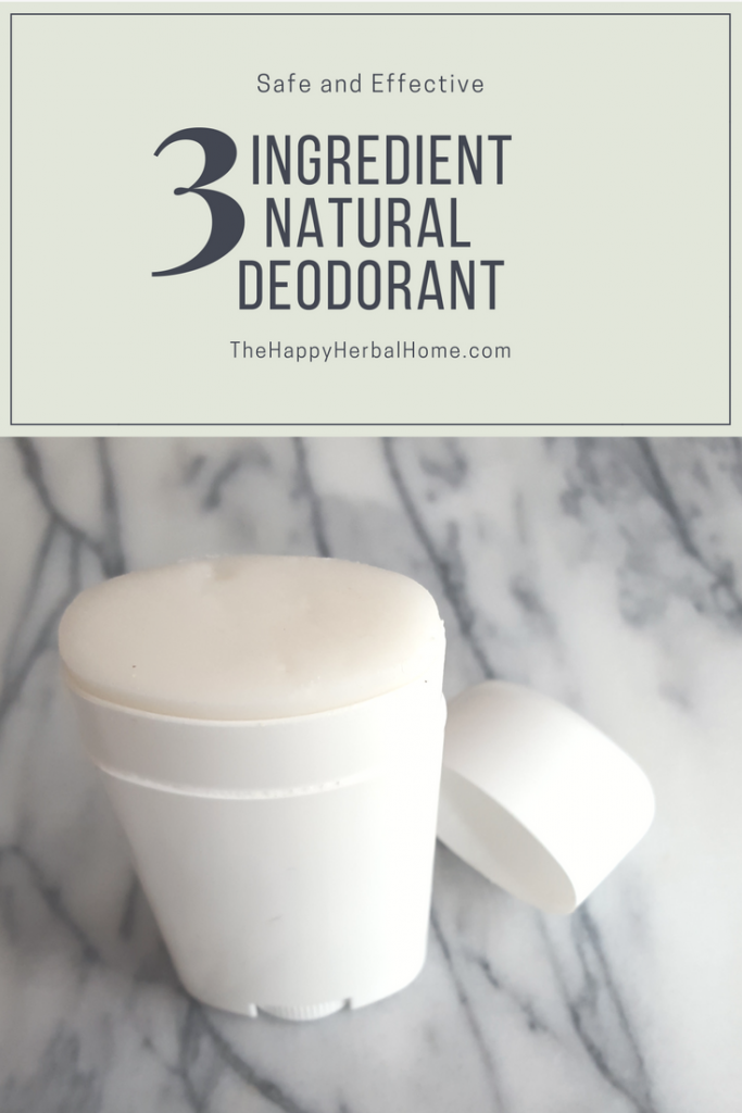 DIY all natural - chemical free deodorant