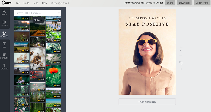 Canva is amazing for bloggers. Create beautiful graphics and images for your blog.