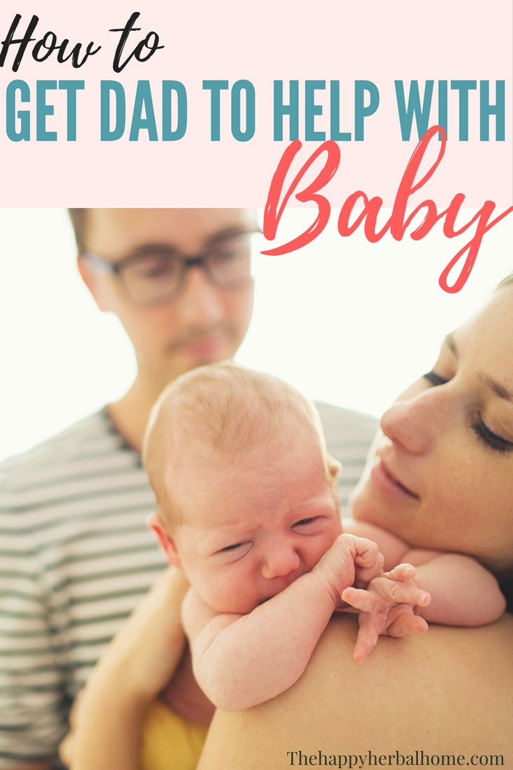 How to get dad to help with new baby. Being a new mom is rough, sometimes our partner doesn't understand how they can help us.