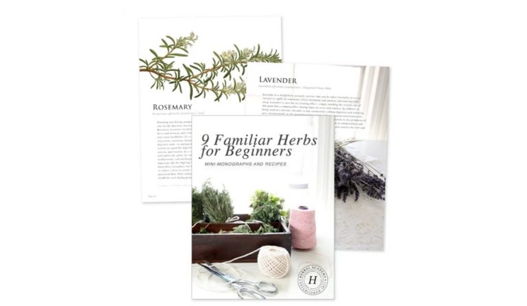 The Herbal Academy's Ebook 9 Familiar Herbs for Beginners.