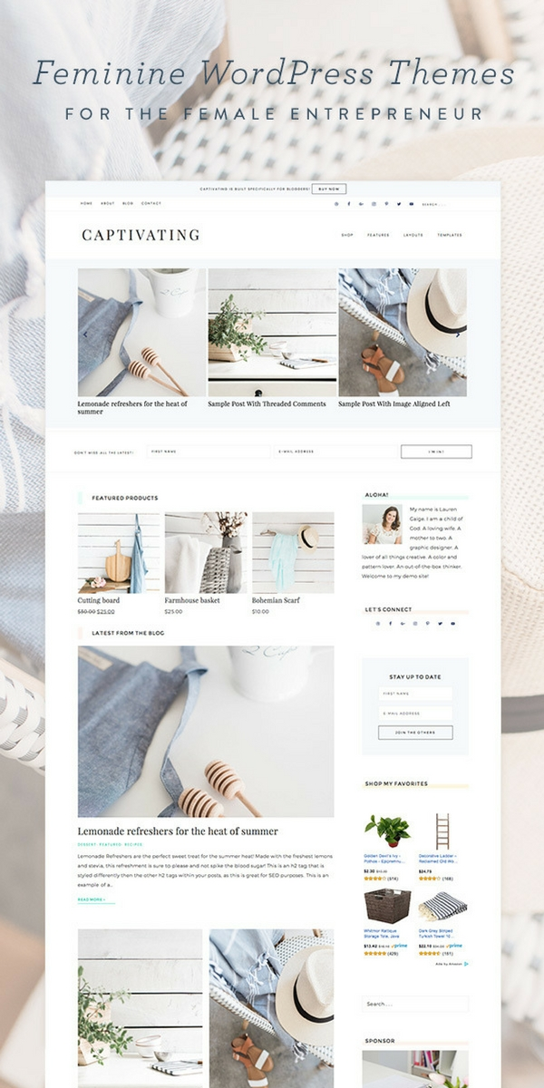 How to choose the right theme for your wordpress blog. Starting a mom blog. How to choose a theme.-Prettiest themes.