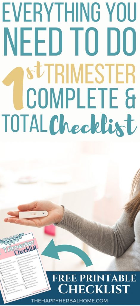 Early pregnancy checklist. Everything to do in your first trimester of pregnancy. This even comes with a free printable checklist to help make it easy.
