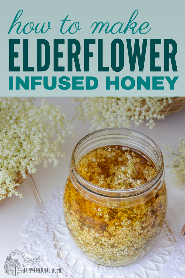 Elderflower honey is a delicious herbal infused honey that can be used to sweet anything from herbal teas to baked goods. Perfect for a unique and fun summer treat, plus you get the health benefits from all of that elderflower goodness.