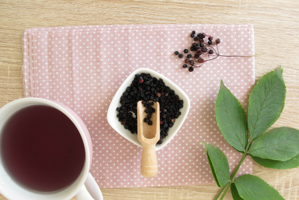 Elderberry tea recipe and benefits