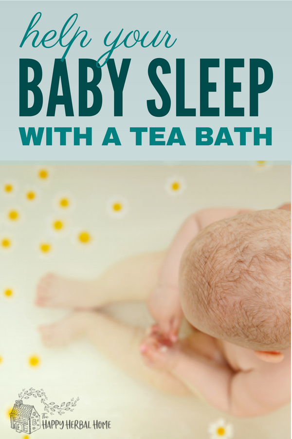 Trying to find ways to get your baby to sleep better? Try an easy herbal tea bath for your baby. Help to calm and soother the nerves of both mom and baby.