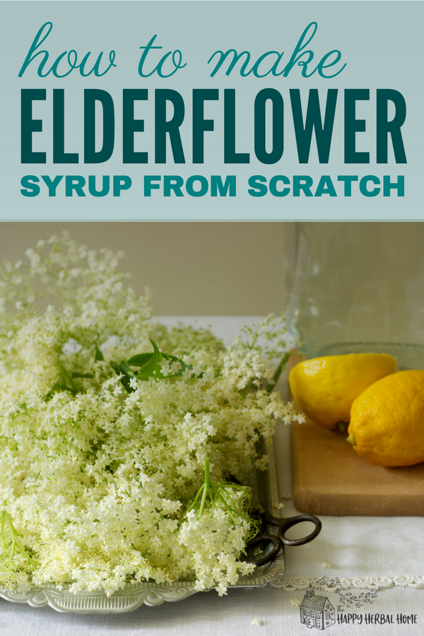 How to make elderflower syrup. A perfect recipe to use up those elderflowers blooming in the summer.